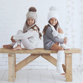 Fashion little girls — Foto de Stock