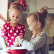 Постер, плакат: Kids at the kitchen