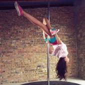 Pole dancer — Stock Photo