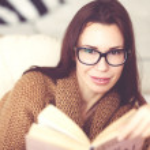 Woman reading book — Stock Photo #63824405