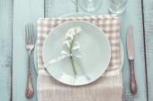 Shabby chic table setting — Zdjęcie stockowe