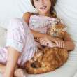 Child and a pet — Stock Photo #73077293