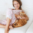 Child and a pet — Stock Photo #73077301