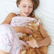 Child and a pet — Stock Photo #73077307
