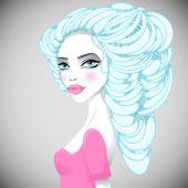 Portrait of beautiful girl — Stock Vector