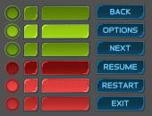 Interface buttons set for space games or apps — Stockvektor