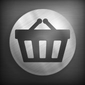 Shopping basket background — Stockvector