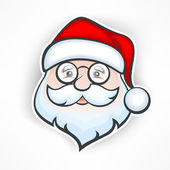 Cheerful Santa face — Stock Vector