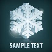 Snowflake on dark blue — Stock Vector