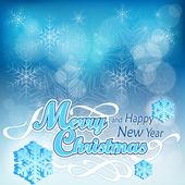 Vánoční pozadí v modrém — Stock vektor