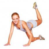 Friska fitness kvinna rörelse — Stockfoto