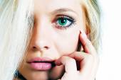 Close-up of emotional woman — Stock Photo