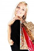 Donna shopping — Foto Stock