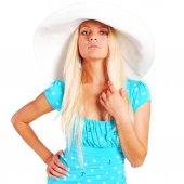 Девушка в шляпе — Стоковое фото