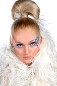 Winter make-up — Stock Photo