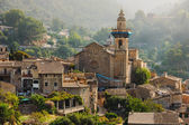 Panoramic view of Valdemossa in Majorka  — Stock Photo