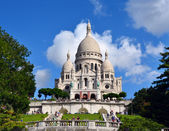 Sacre Coeur Basilica on of Montmartre hill, Paris, France — Stock Photo
