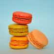 Colorful french macaroons, traditional Parisian cookie — Stock Photo #53638935