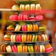 Colorful french macaroons, traditional Parisian cookie — Stock Photo #53639007