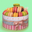 Sweet and colorful french macaroons, traditional Parisian cookie — Stock Photo #53639631