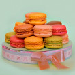 Sweet and colorful french macaroons, traditional Parisian cookie — Stock Photo #53639637