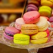 Colorful french macaroons, traditional Parisian cookie — Stock Photo #53639813