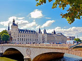 Castle Conciergerie - former royal palace and prison located on the Cite Island. Today it is part of larger complex known as Palais de Justice. Paris, France. — Stock Photo