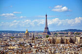 Aerial view of the Eiffel Tower from Notre Dame de Paris — Stock Photo
