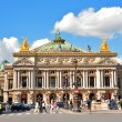 Opera Garnier in Paris, France. Opera House placed in Place de L'Opera. Designed by Charles Garnier in 1875. Neo Baroque Style. — Stock Photo #53819399