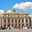 Opera Garnier in Paris, France. Opera House placed in Place de L'Opera. Designed by Charles Garnier in 1875. Neo Baroque Style. — Stock Photo #53819521