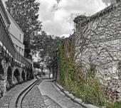 Old street of Montmartre, Paris, France — Stock Photo
