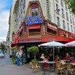 View of typical street paris cafe on August 17, 2014, Paris, France — 图库照片 #56205161