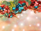Christmas decoration on abstract background — Stok fotoğraf