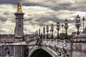Alexandre III bridge in Paris, France — Stock Photo