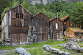 Geiranger houses — Stock Photo