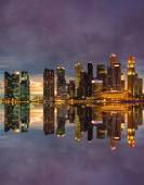 Singapore Skyline at sunset — Stock Photo