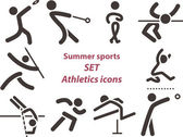 2562 - Set of athletics icons — Stockvektor