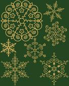 Set voor snowflake — Stockvector
