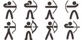 2577 - Archery icons — Stockvektor