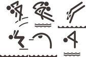 Duiken pictogrammen — Stockvector