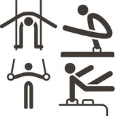Gymnastics Artistic icons — Stock Vector
