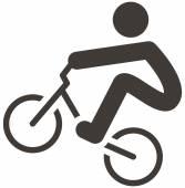Pictogram van bmx fietsen — Stockvector
