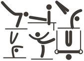 Artistieke gymnastiek pictogram — Stockvector
