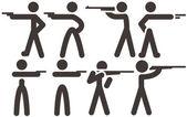 Schieten pictogrammen — Stockvector