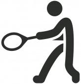 Tennis icon — Stock Vector
