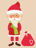 Santa Claus with gifts — Stock Vector