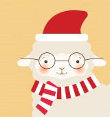 Christmas goat — Stock Vector