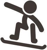 Snowboard icon — Stock Vector