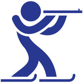 Biathlon icon — Stock Vector