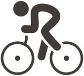 Cycling road icon — Stock Vector